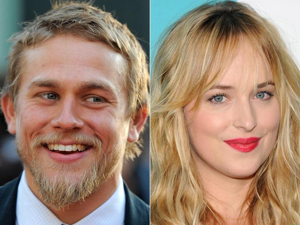 "Charlie Hunnam (left) and Dakota Johnson were cast in the sure-to-be steamy ""50 Shades of Grey."""
