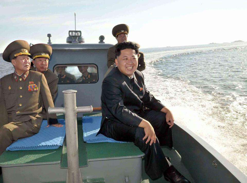 North Korea's official news agency releases photos depicting the dictator in a flattering light.