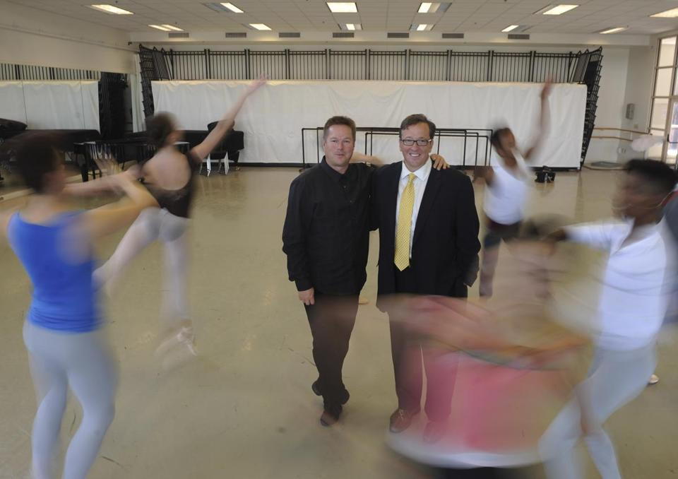 Boston Ballet executive director Barry Hughson (right, with artistic director Mikko Nissinen).