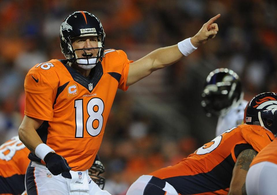 Peyton Manning threw 7 TD passes in the Broncos' win.