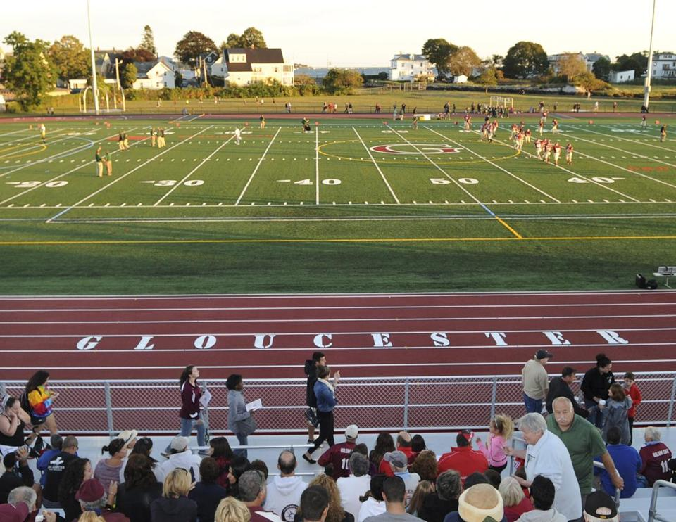 Gloucester High School's new $3.8 million New Balance Track and Field at Newell Stadium opened  earlier this month.