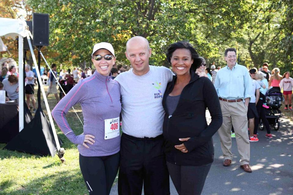 From left: J.C. Monahan, Bill Taylor, and Shayna Seymour at the Four Seasons Run of Hope.