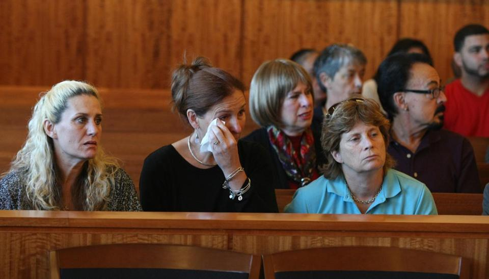 About a dozen relatives of Gayle Botelho listened to court proceedings Monday in the arraignment of Daniel T. Tavares Jr.