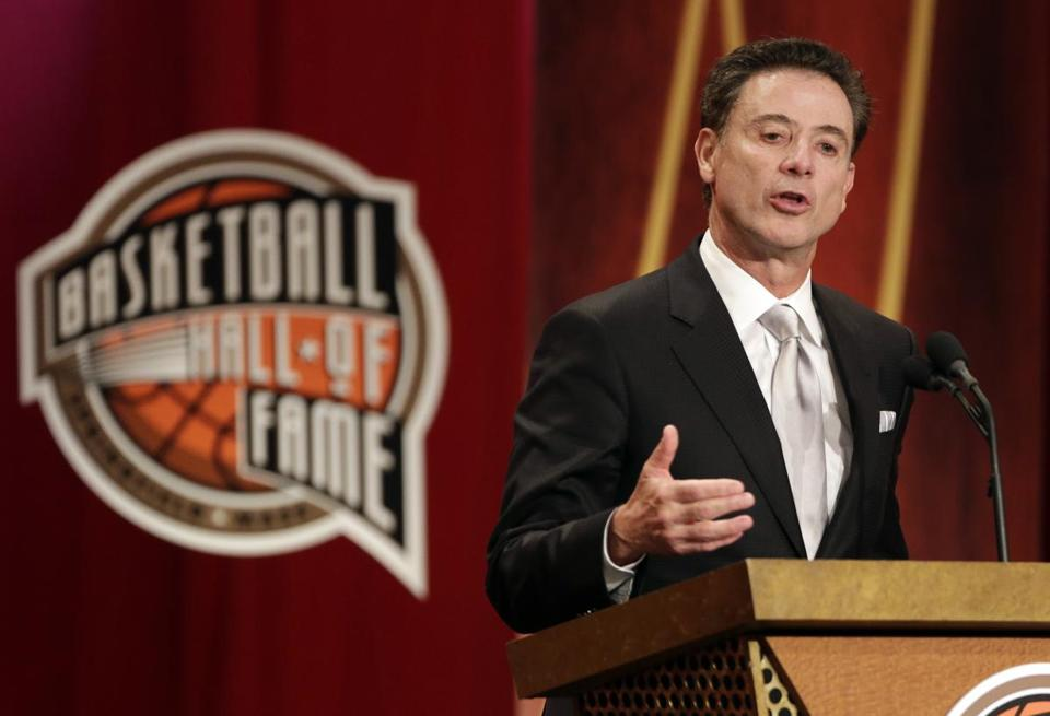 During his speech, Rick Pitino touched upon his BU and Providence days, and even those dismal ones with the Celtics.