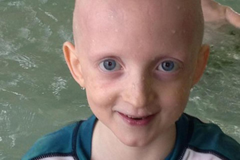 Christopher Grimes, 8, died of cancer last week. He was buried in Vermont on Monday.