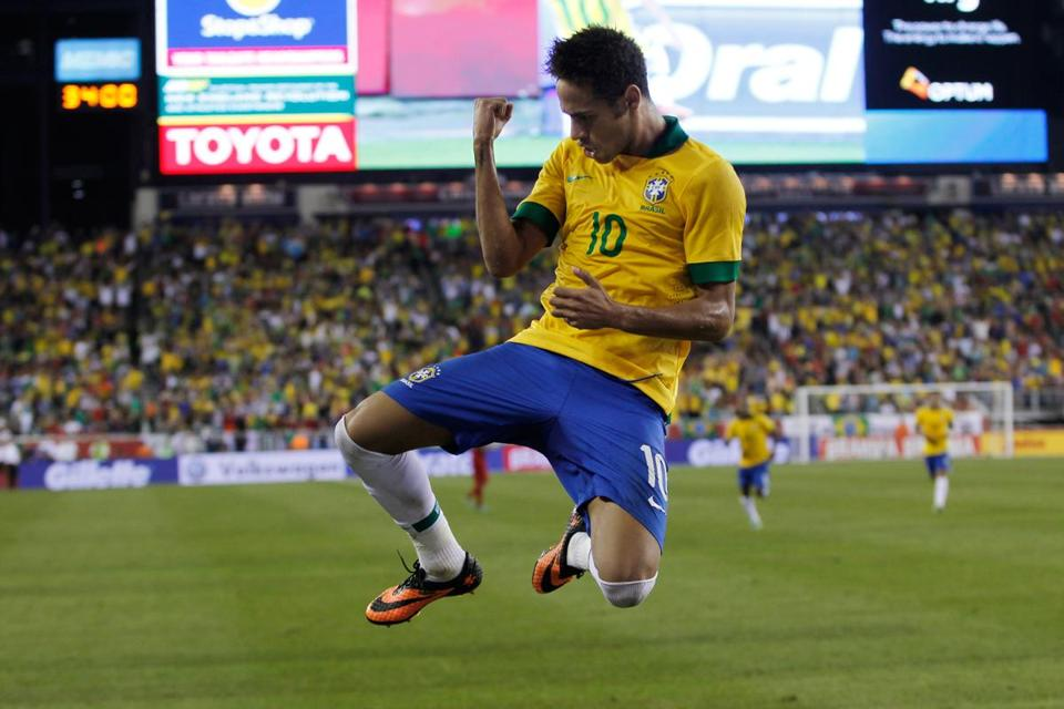 Neymar was uplifted after he scored — and set up two others — in Brazil's 3-1 victory.