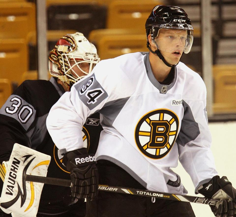Forward Carl Soderberg struggled with the Bruins' system in his short stint last season, but with experience on his side, he may find a spot on the team.