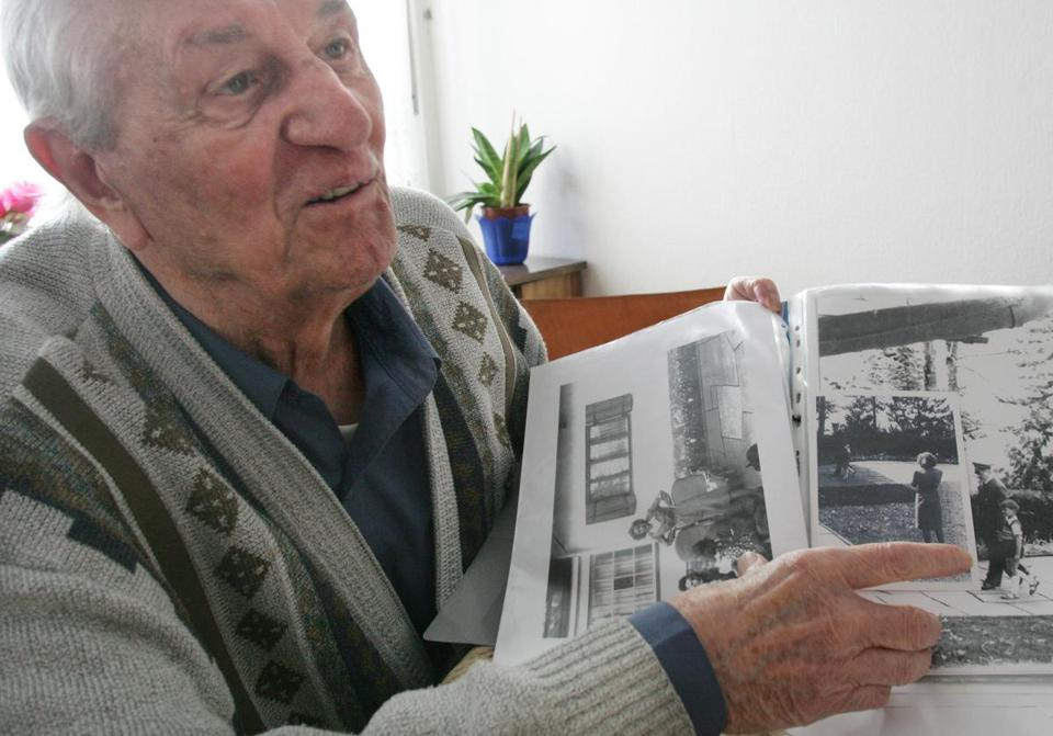 Former bodyguard Rochus Misch, who died this month at 96, pointed to a photo of Adolf Hitler he had taken in Berchtesgaden in southern Germany in the early 1940s.