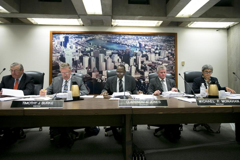 Globe investigations found the BRA's board — Paul Foster, vice chairman Timothy J. Burke, former chairman Clarence J. Jones, Michael P. Monahan, and treasurer Consuelo Gonzales-Thornell — rubber-stamped deals the BRA staff negotiated privately with developers, often with the mayor's imprimatur.