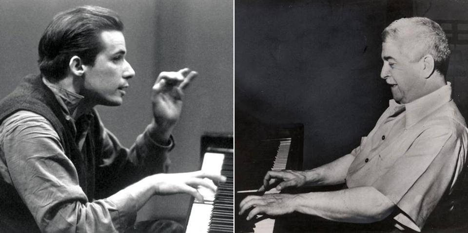 Saturday's program will present compositions by  pianists Glenn Gould (far left) and Artur Schnabel.