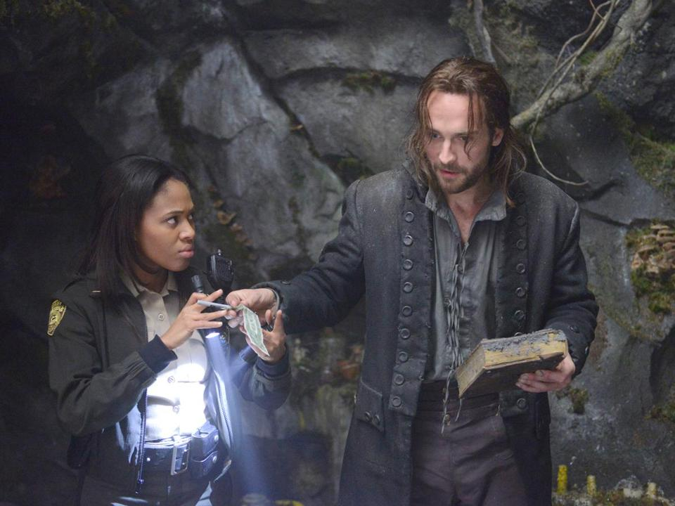 "Nicole Beharie as police officer Abbie Mills and Tom Mison as Ichabod Crane in Fox's ""Sleepy Hollow.''"