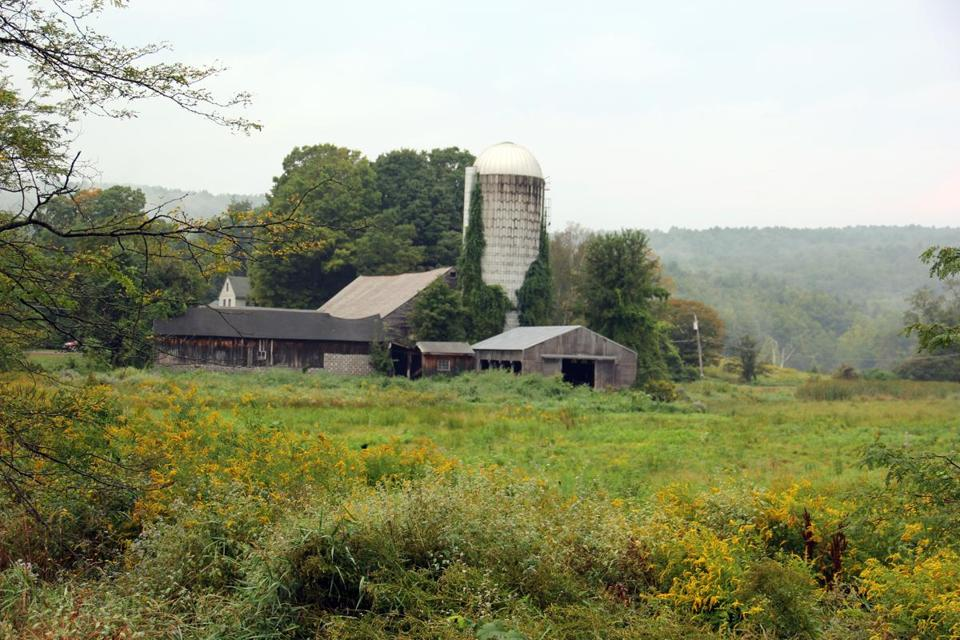 Barns at a working dairy farm in South Deerfield on Rt. 116 Scenic Byway.