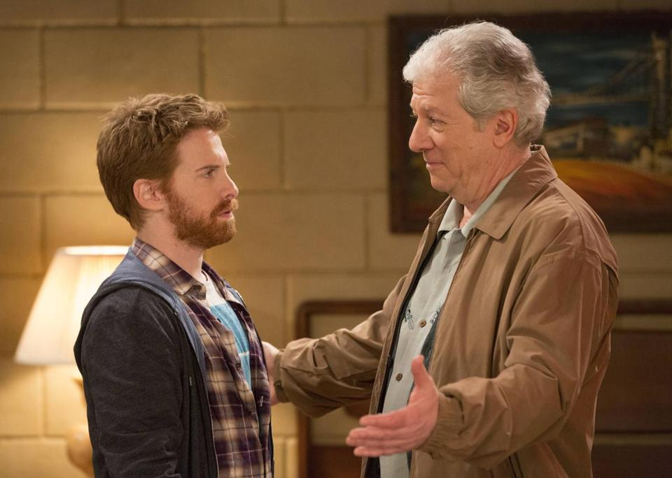 "Seth Green, left, and Peter Riegert in a scene from ""Dads,"" a new Fox sitcom."