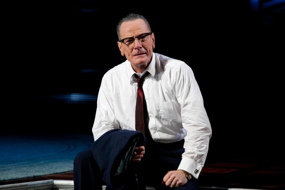 "Bryan Cranston stars as President Johnson in American Repertory Theater's production of ""All the Way."""