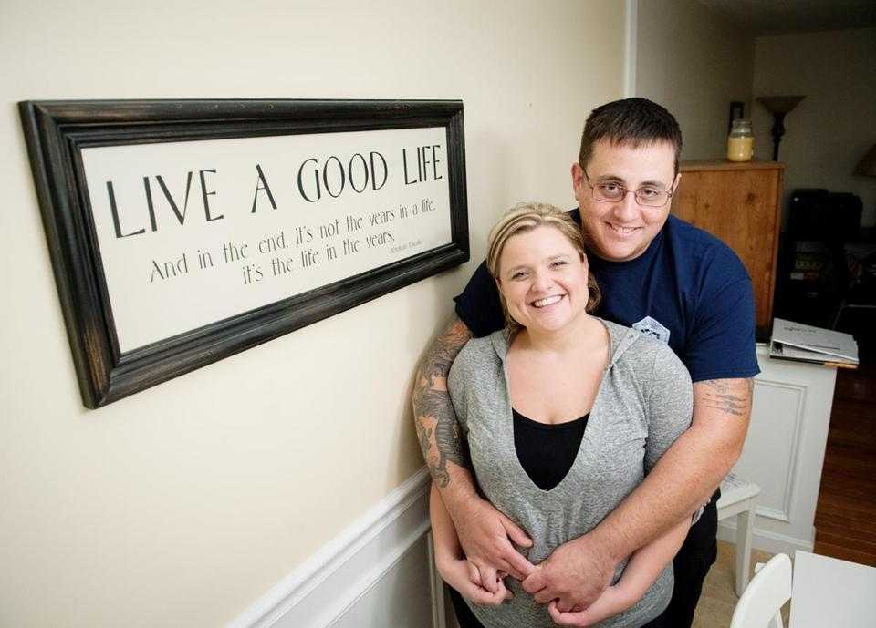 Rebecca Nesbitt and her fiance, Norman Poirier, had wanted to find a house near Chelmsford or Andover. But they wound up buying a home over the border in Nashua.