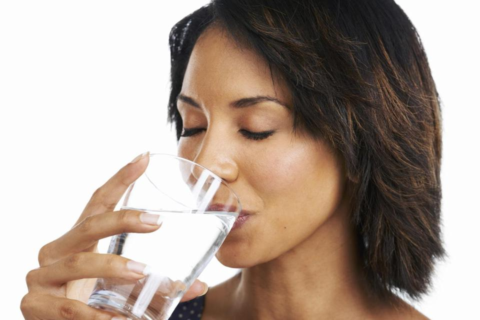 Dehydration can zap energy. To compensate, drink regularly during the day.