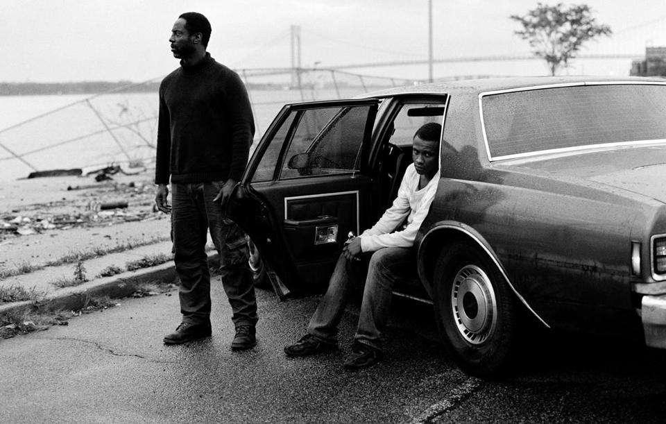 "Isaiah Washington (left) and Tequan Richmond star as the killers in ""Blue Caprice."""