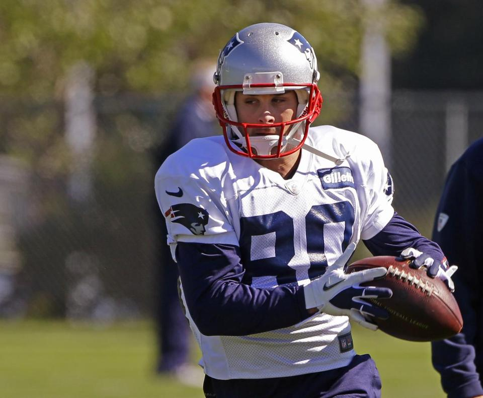 Danny Amendola during practice Wednesday (AP Photo/Stephan Savoia)