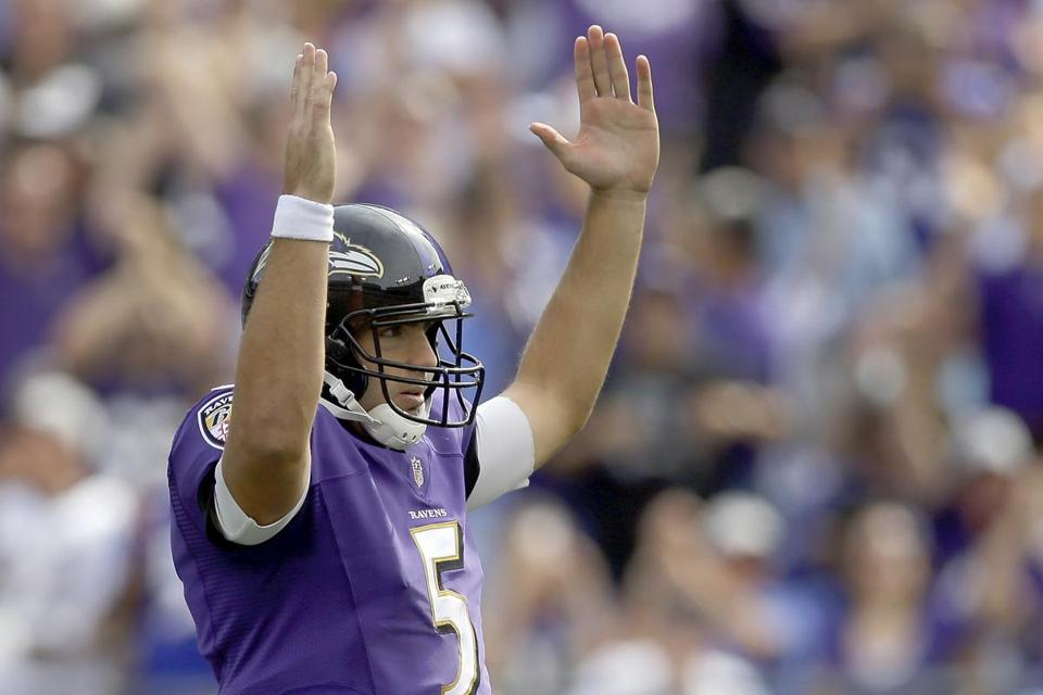 Quarterback Joe Flacco and the Ravens are locked and loaded for a showdown with the Texans in Baltimore.