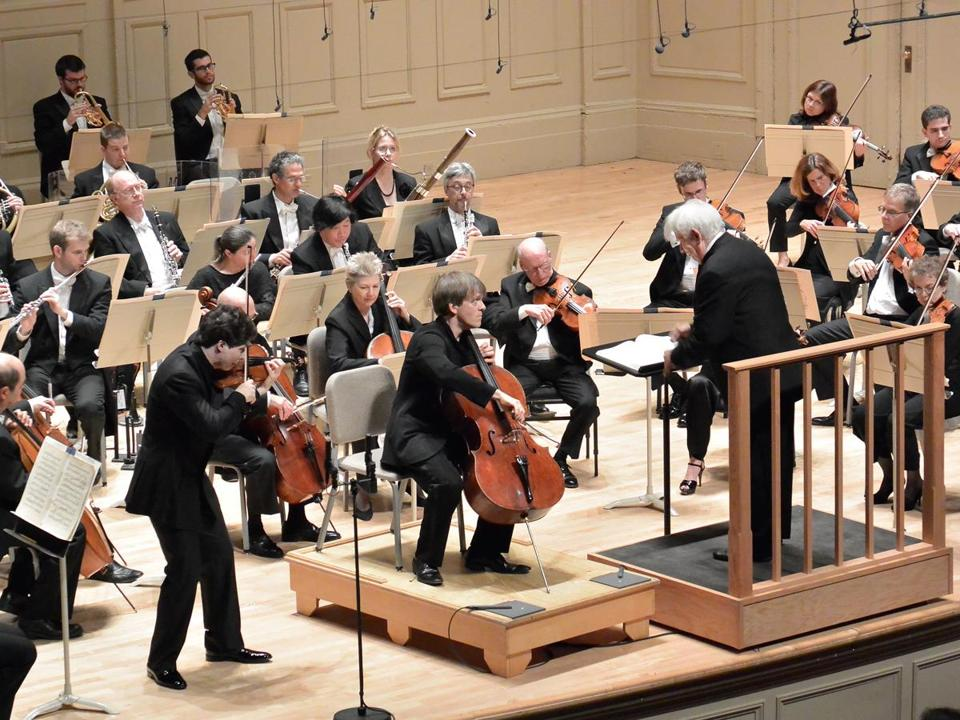 Christoph von Dohnányi conducts violinist Augustin Hadelich and cellist Alban Gerhardt, and the Boston Symphony Orchestra on Saturday.