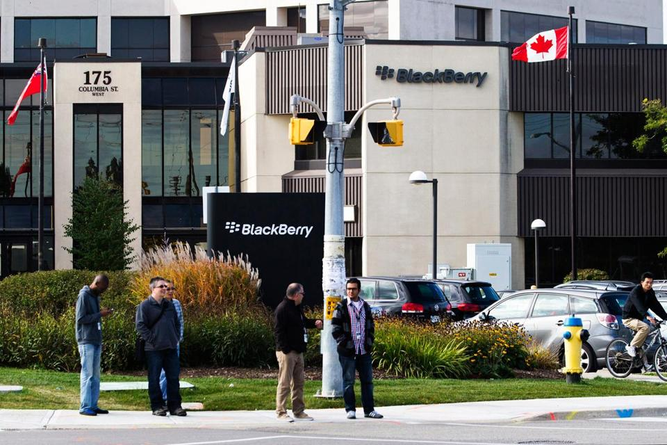 BlackBerry has announced plans to lay off 40 percent of its global workforce.