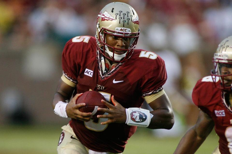 A 6-foot-4-inch, 228-pound specimen, Jameis Winston made quite a splash in his debut by leading FSU to a 41-13 romp at Pittsburgh Sept. 2.
