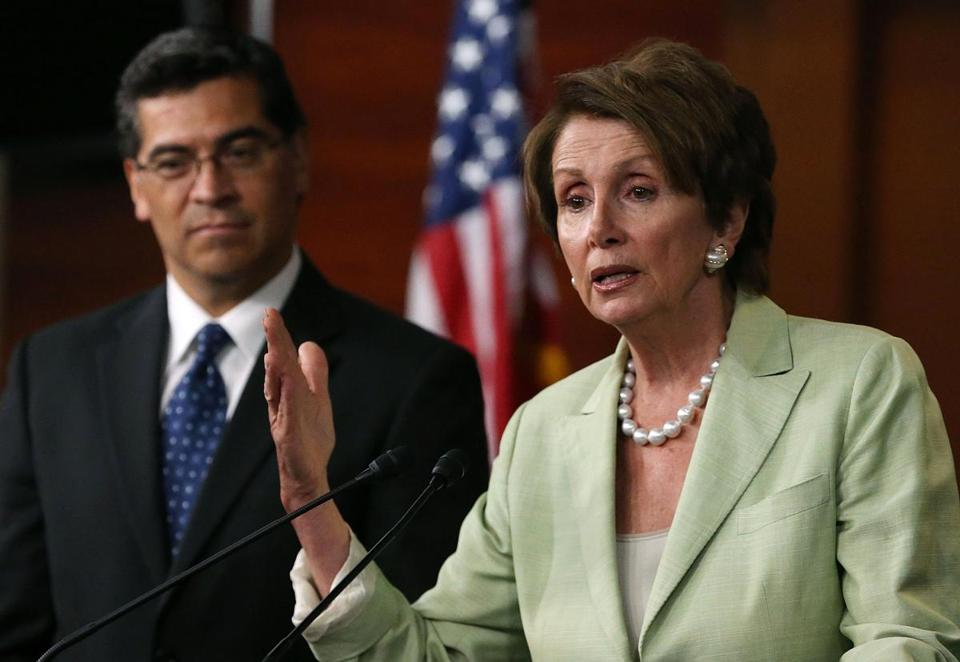 Representatives Nancy Pelosi and Xavier Becerra, both from California, are leading the effort on immigration.