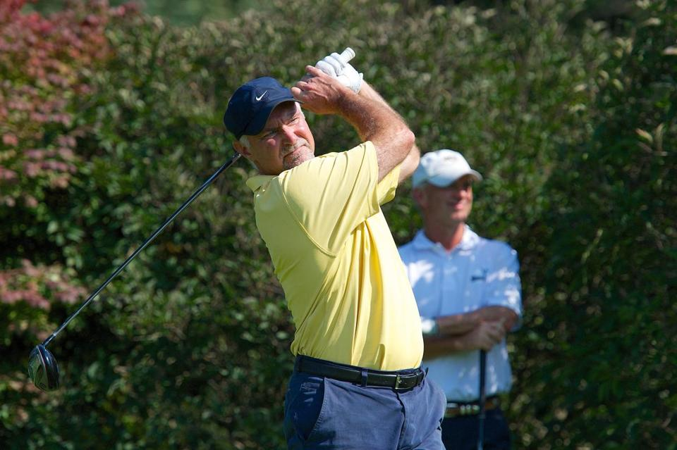 Franklin golfer Keith Smith, 55, on his way to this year's Mass. Senior Amateur title.