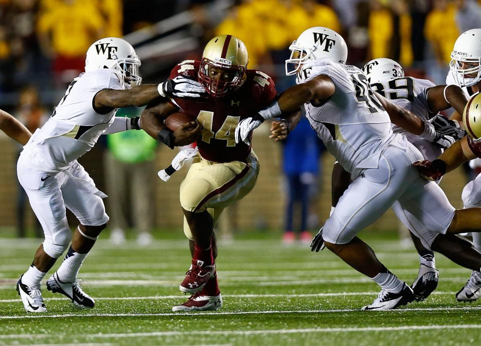 BC's Andre Williams, the leading rusher in the ACC, had a career-high 204 yards against Wake Forest.