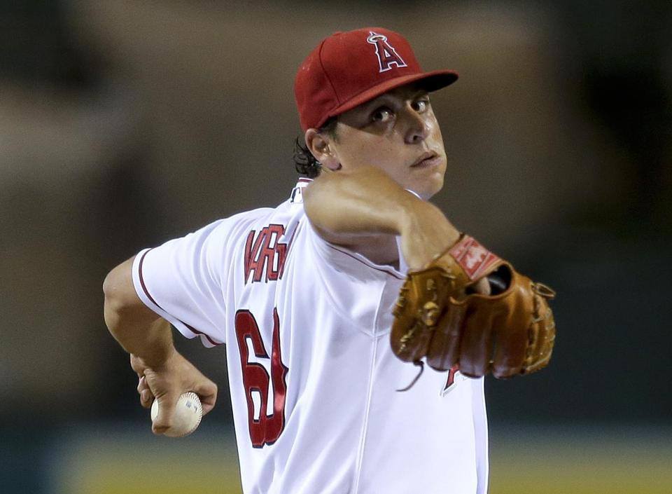 Los Angeles Angels starting pitcher Jason Vargas earned his second shutout of the season with a four-hitter against the Oakland Athletics.
