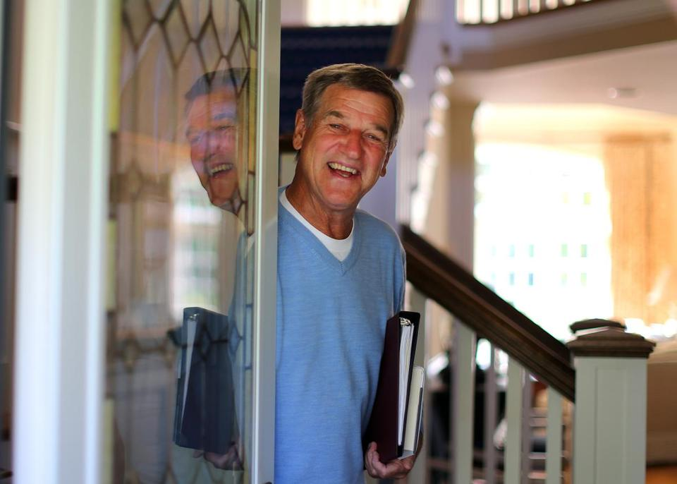 Hall of Famer Bobby Orr, at his home in Sandwich. The former Boston Bruin's autobiography is due next month.