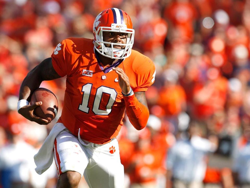 Tajh Boyd has 102 career touchdowns after throwing for three and rushing for one.