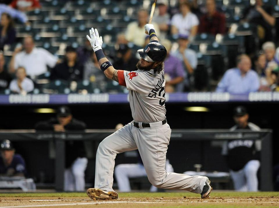 Saltalamacchia is hitting .306 this month with eight extra-base hits and 13 RBIs in 14 games.