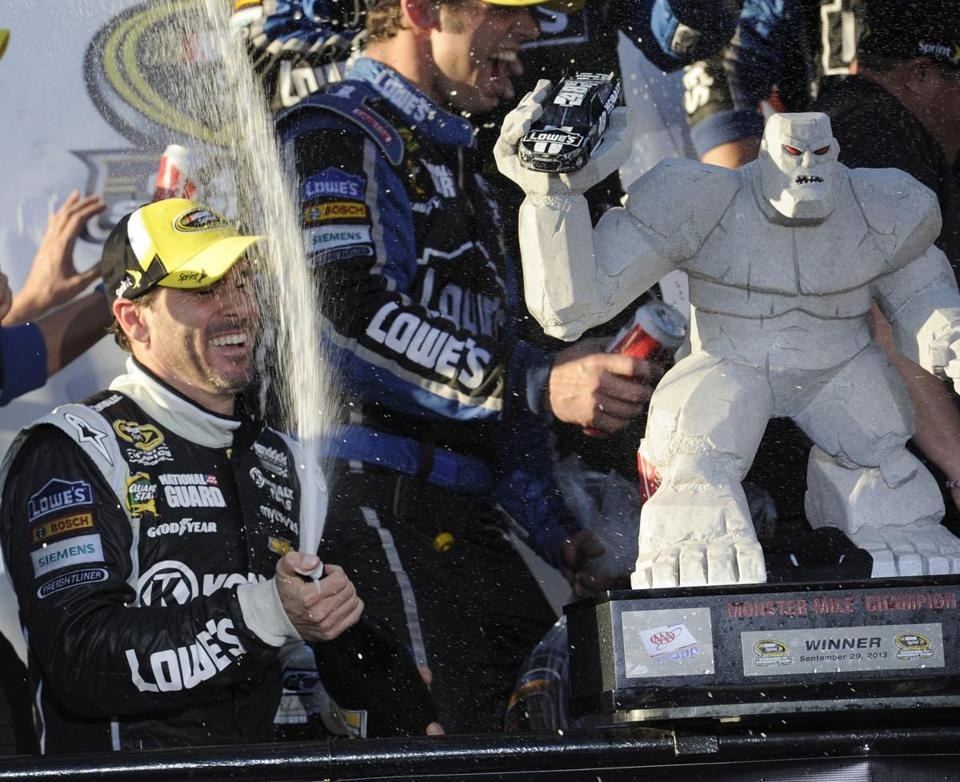 Jimmie Johnson's triumph in the AAA 400 moved him up a spot to second in the Chase for the Sprint Cup standings.