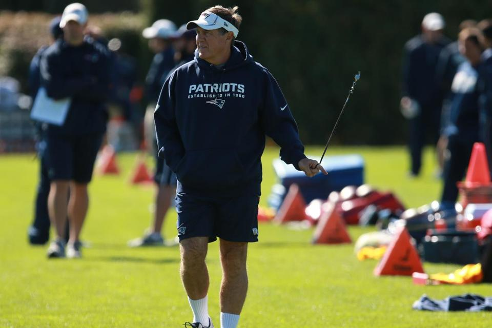 Patriots coach Bill Belichick said he has several reasons for trying out a player.