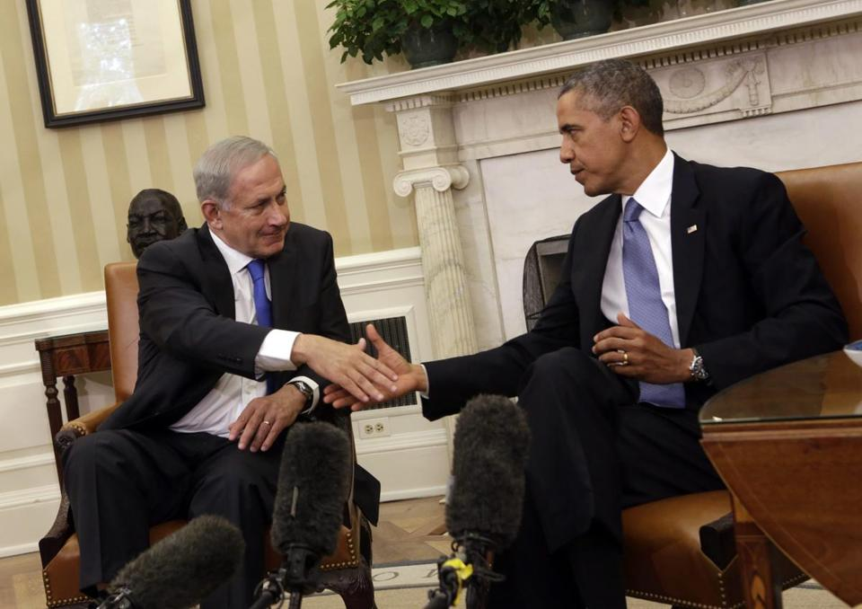 ''If diplomacy is to work, those pressures must be kept in place,'' Israeli Prime Minister Benjamin Netanyahu told President Obama.