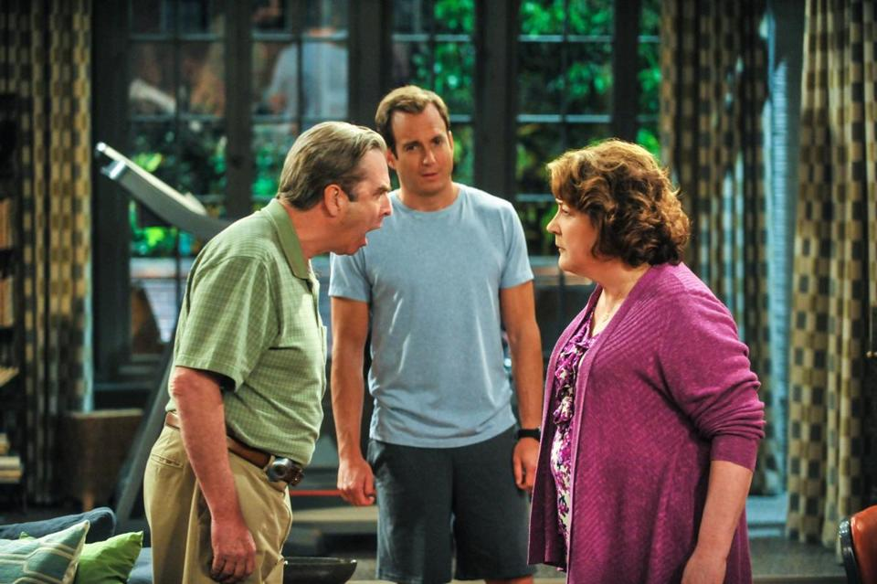 "Beau Bridges, Will Arnett, and Martindale on ""The Millers."""