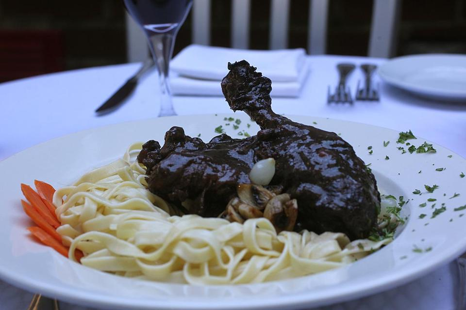 Coq au vin at Petit Robert.