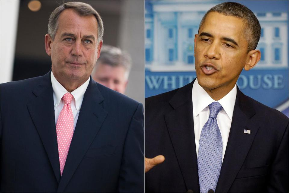 A call from President Obama to the Republican speaker of the House, John Boehner, did nothing to bring the sides together.
