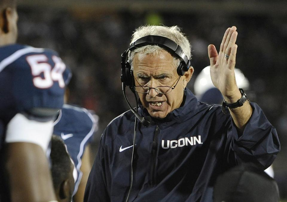 Paul Pasqualoni, in his third season at UConn, finishes with a 10-18 record.