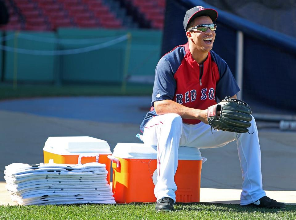 Quintin Berry is the only African-American in the Series, a base-stealing specialist who spends some of his time chilling.