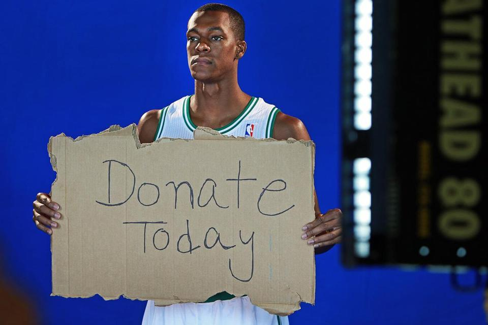 There were some good signs from Rajon Rondo, including this one for a promotional spot.