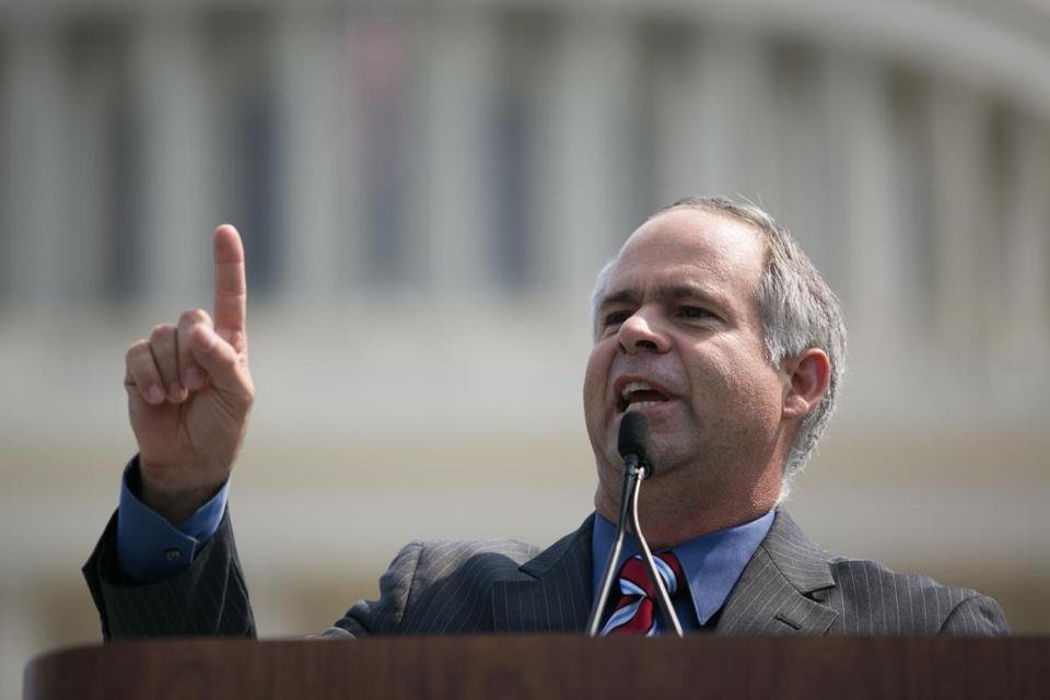 "Democrats want to keep ""their own gold-crusted health care plan,"" Rep. Tim Huelskamp said."