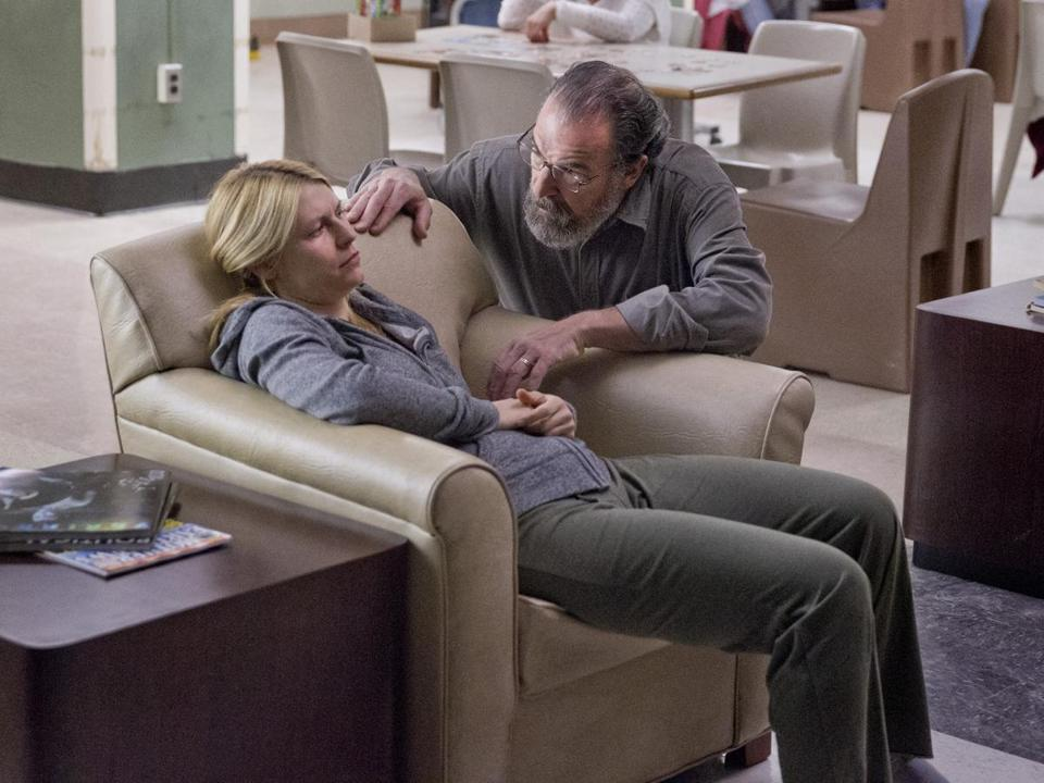 "Claire Danes and Mandy Patinkin in Showtime's ""Homeland."""