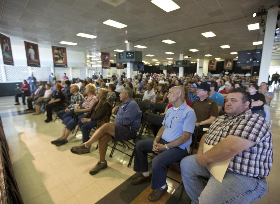 About 1,000 people turned out Thursday for a jobs fair held by Suffolk Downs and Caesars Entertainment, who are trying to build a $1 billion resort casino. The developers say the project could bring 4,000 permanent jobs.