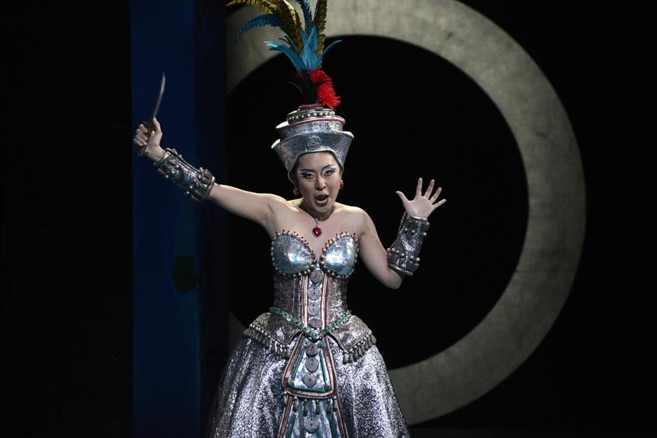 "So Young Park as Queen of the Night in the Boston Lyric Opera's production of ""The Magic Flute."""