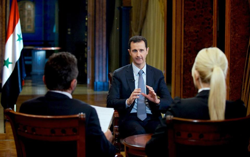 An interview on Turkish TV with Syrian President Bashar Assad was broadcast Thursday.