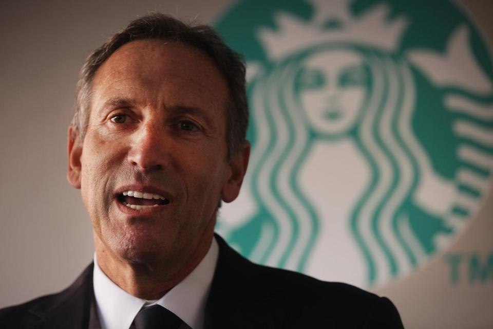 "Starbucks CEO Howard Schultz issued a ""respectful request"" for customers to stop bringing guns into his company's coffee shops."