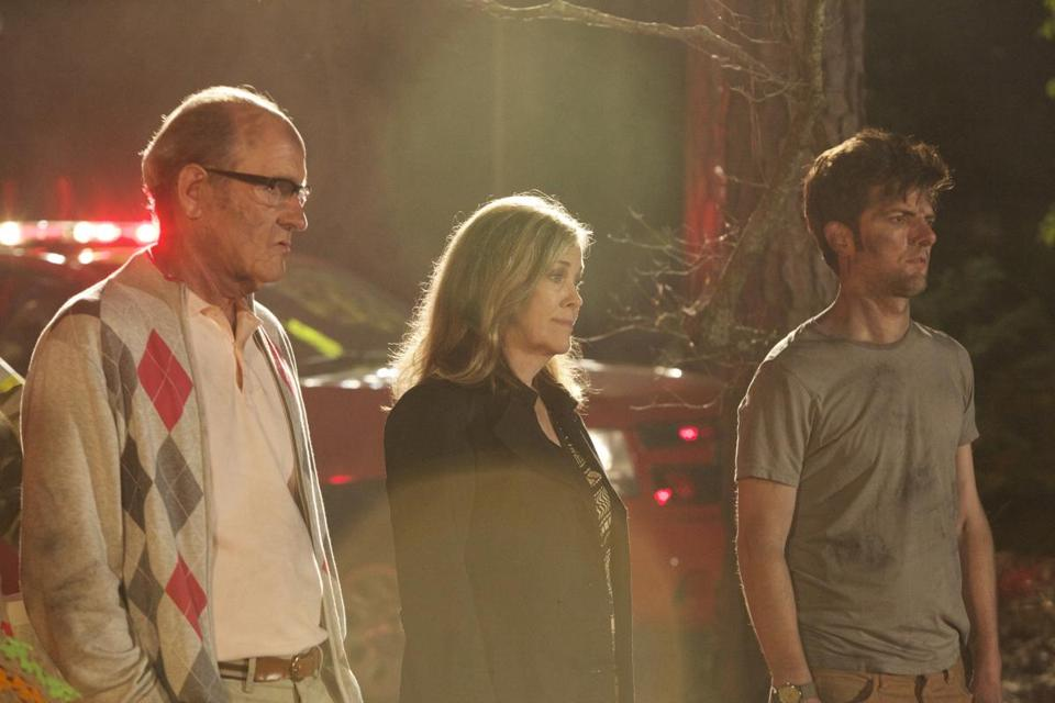 "From left: Richard Jenkins, Catherine O'Hara, and Adam Scott costar in Stu Zicherman's ""A.C.O.D."""