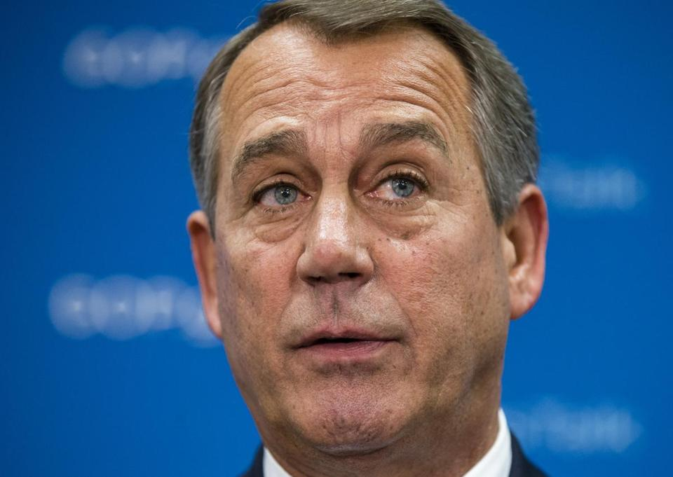 House Speaker John Boehner dismissed any immediate path to ending the government shutdown Sunday.